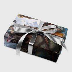 Бумага для упаковки Русский воин на медведе цвета 3D — фото 2