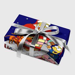 Бумага для упаковки Новый год у Симпоснов цвета 3D-принт — фото 2