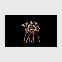 Бумага для упаковки Армейские девушки цвета 3D — фото 1