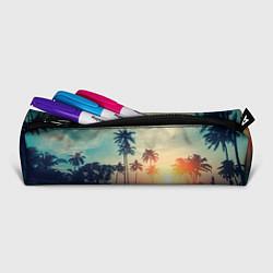 Пенал для ручек Пальмы цвета 3D-принт — фото 2