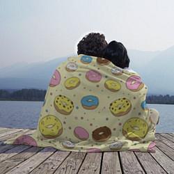 Плед флисовый Сладкие пончики цвета 3D — фото 2