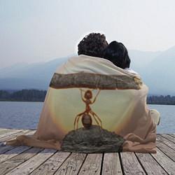 Плед флисовый Муравей-силач цвета 3D — фото 2