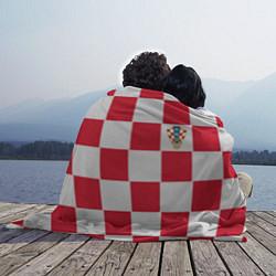 Плед флисовый Сборная Хорватии: Домашняя ЧМ-2018 цвета 3D-принт — фото 2