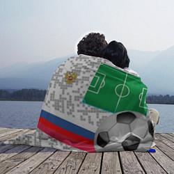Плед флисовый Русский футбол цвета 3D-принт — фото 2