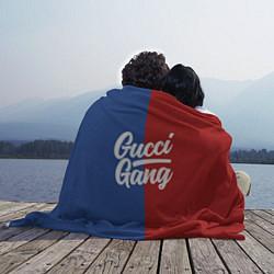 Плед флисовый Gucci Gang: Blue & Red цвета 3D — фото 2