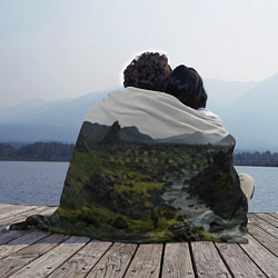 Плед флисовый Death Stranding: Green World цвета 3D-принт — фото 2