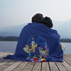 Плед флисовый Sonic цвета 3D-принт — фото 2