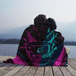 Плед флисовый Неоновый НАРУТО цвета 3D — фото 2