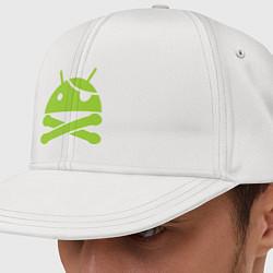Кепка-снепбек Android super user цвета белый — фото 1