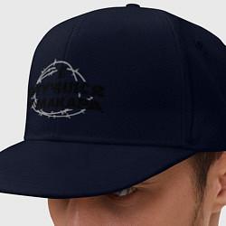 Кепка-снепбек Отучился у Макара цвета тёмно-синий — фото 1