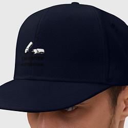 Кепка-снепбек Сигаретки - мигаретки цвета тёмно-синий — фото 1