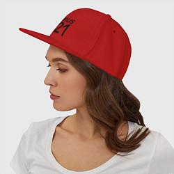 Кепка-снепбек RUS 121 цвета красный — фото 2