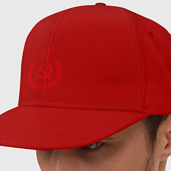 Кепка-снепбек СССР герб цвета красный — фото 1