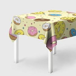 Скатерть для стола Сладкие пончики цвета 3D — фото 2