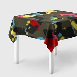 Скатерть для стола Цветной камуфляж цвета 3D — фото 2