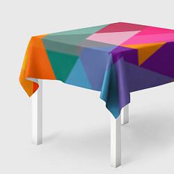 Скатерть для стола Разноцветные полигоны цвета 3D — фото 2