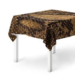 Скатерть для стола Змеиная кожа цвета 3D — фото 2