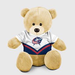 Игрушка-медвежонок NHL: Columbus Blue Jackets цвета 3D-желтый — фото 1