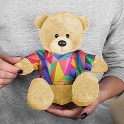 Игрушка-медвежонок Радуга цвета 3D-желтый — фото 2