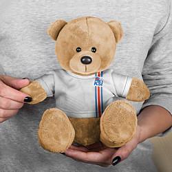 Игрушка-медвежонок Сборная Исландии по футболу цвета 3D-коричневый — фото 2