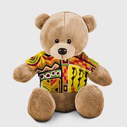 Игрушка-медвежонок Африка цвета 3D-коричневый — фото 1