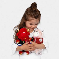 Игрушка-бычок Sakhalin, Russia цвета 3D-красный — фото 2