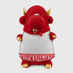 Игрушка-бычок Пожарный цвета 3D-красный — фото 1