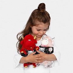 Игрушка-бычок ВЕДЬМАК цвета 3D-красный — фото 2