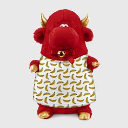 Игрушка-бычок Бананы цвета 3D-красный — фото 1