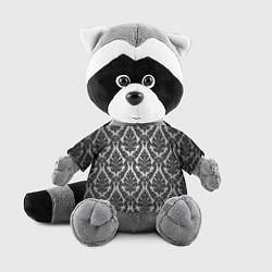 Игрушка-енот Гламурный узор цвета 3D-серый — фото 1