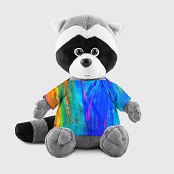 Игрушка-енот Разводы цвета 3D-серый — фото 1