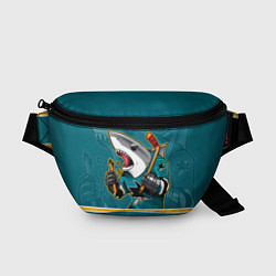 Поясная сумка San Jose Sharks цвета 3D-принт — фото 1