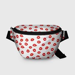 Поясная сумка Поцелуйчики цвета 3D-принт — фото 1