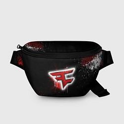 Поясная сумка FaZe Clan: Black collection цвета 3D-принт — фото 1