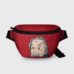 Поясная сумка Альберт Эйнштейн: Поп-арт цвета 3D — фото 1