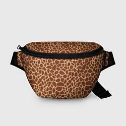 Поясная сумка Жираф цвета 3D-принт — фото 1