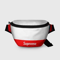 Поясная сумка Supreme: White & Red цвета 3D — фото 1