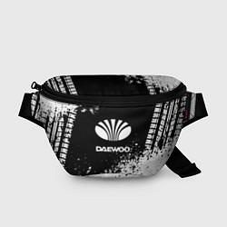 Поясная сумка Daewoo: Black Spray цвета 3D-принт — фото 1
