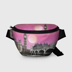 Поясная сумка Закат в Великобритании цвета 3D-принт — фото 1