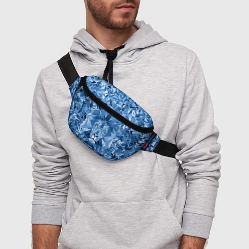 Поясная сумка Сине-бело-голубой лев / 3D – фото 3