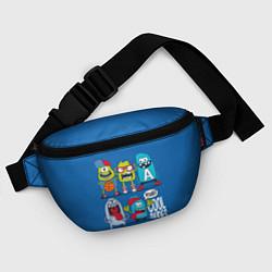 Поясная сумка Cool Dudes цвета 3D-принт — фото 2