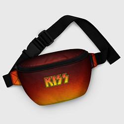 Поясная сумка KISS цвета 3D-принт — фото 2