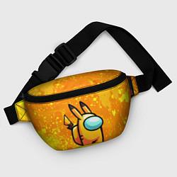 Поясная сумка AMONG US - Pikachu цвета 3D — фото 2