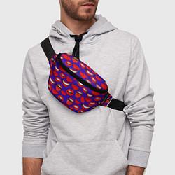 Поясная сумка Губы цвета 3D-принт — фото 2
