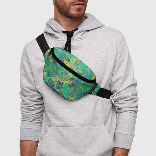 Поясная сумка Узор из листьев / 3D – фото 3