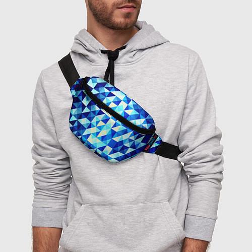 Поясная сумка Синяя геометрия / 3D – фото 3