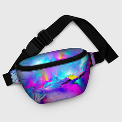 Поясная сумка Абстракция цвета 3D — фото 2