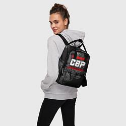 Рюкзак женский СВР: герб РФ цвета 3D-принт — фото 2