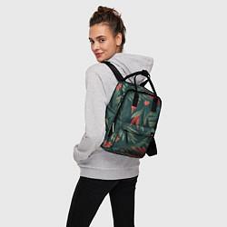 Рюкзак женский Зеленые тропики цвета 3D — фото 2