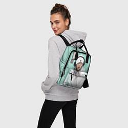 Женский городской рюкзак с принтом BILLIE EILISH, цвет: 3D, артикул: 10201691505839 — фото 2